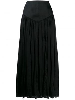 Черная ажурная юбка макси Emanuel Ungaro Pre-owned