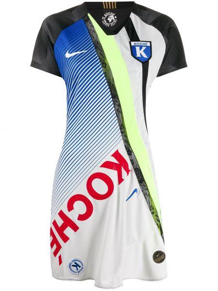 Платье мини футболка в рубчик Nike