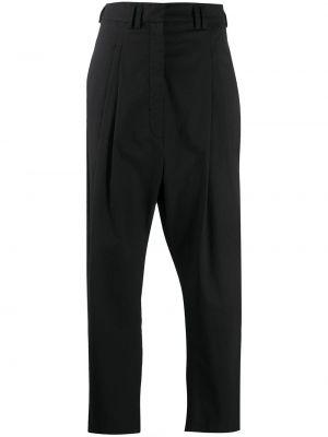 Прямые хлопковые черные брюки Christian Wijnants