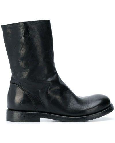 Черные кожаные сапоги на молнии на каблуке The Last Conspiracy