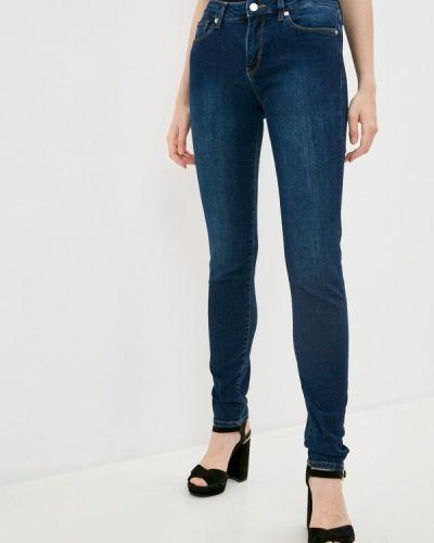 Синие джинсы-скинни узкого кроя Love Moschino