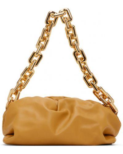 Желтая цепочка из золота с подкладкой квадратная Bottega Veneta