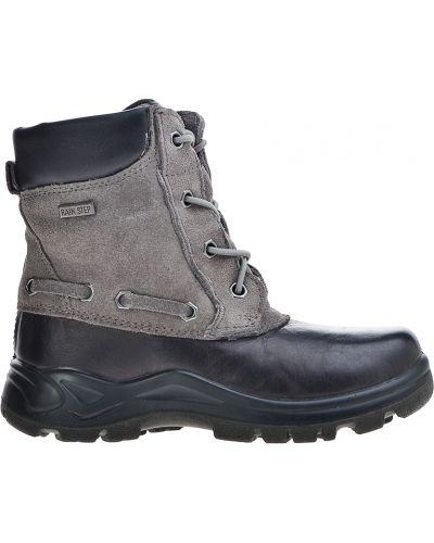 Ботинки замшевые серые Naturino