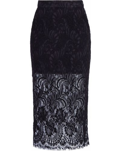 Шелковая юбка миди - черная Stella Mccartney