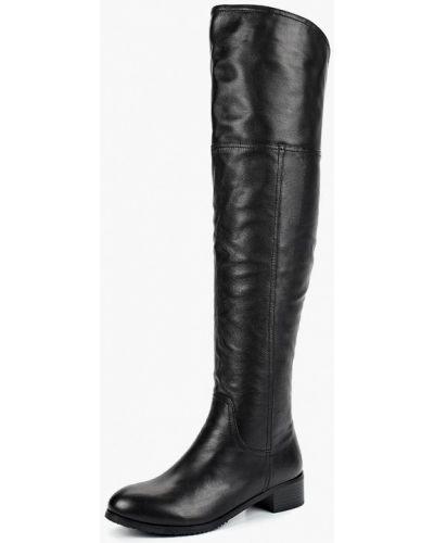 Черные кожаные ботфорты Ascalini