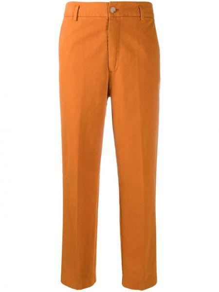 Укороченные брюки - оранжевые Forte Forte