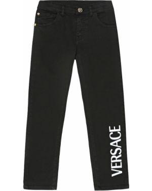 Jeansy prosto z logo Versace Kids