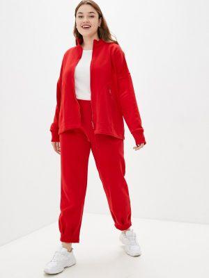 Красный спортивный костюм осенний Sitlly
