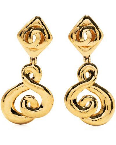Kolczyki sztyfty srebrne Chanel Pre-owned