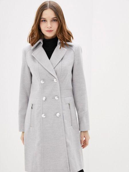 Серое пальто с капюшоном Wallis