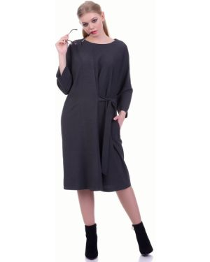 Деловое платье оверсайз с поясом Lautus