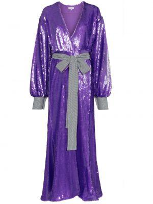 Платье с поясом с пайетками с запахом Natasha Zinko