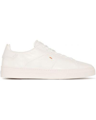 Białe sneakersy Santoni