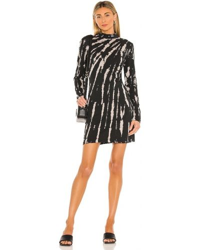 Трикотажное черное платье на молнии Pam & Gela