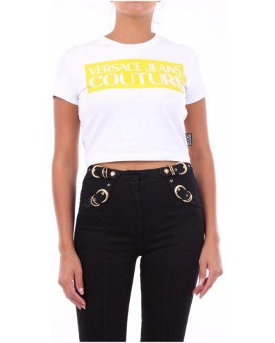 Żółty t-shirt krótki rękaw Versace Jeans Couture