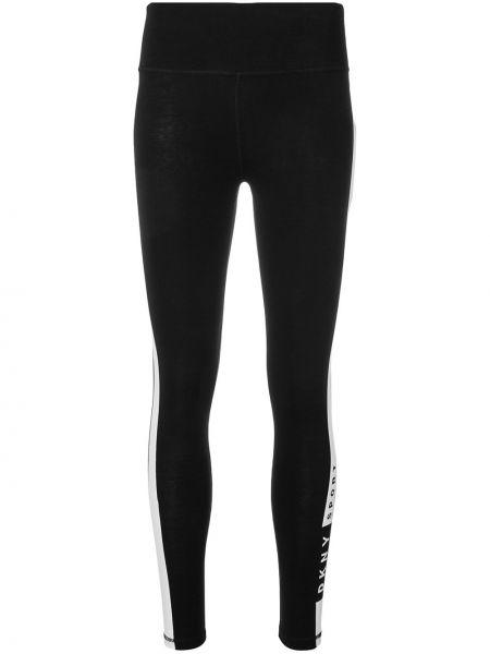 Спортивные брюки в полоску черные Dkny