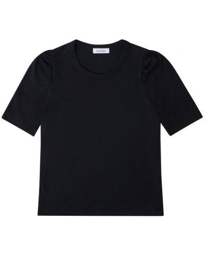 Czarna t-shirt bawełniana Rodebjer