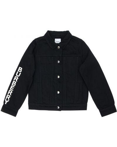 Bawełna czarny jeansy z kieszeniami z mankietami Burberry