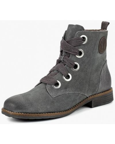 Ботинки на каблуке осенние замшевые S.oliver