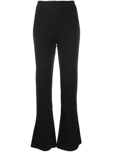 Шерстяные брюки - серые Nanushka