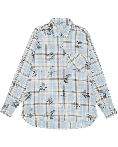 Рубашка с карманами - голубая Paul & Joe Sister