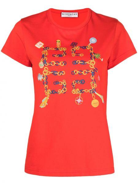 Bawełna koszula krótkie rękawy okrągły okrągły dekolt Givenchy