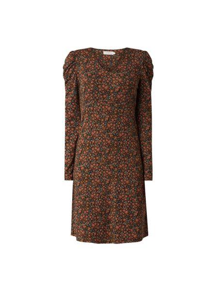 Sukienka w kwiaty - czarna Cream