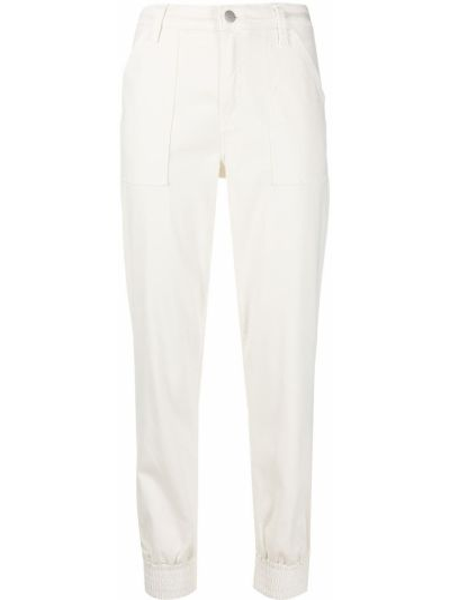 Прямые с завышенной талией белые спортивные брюки J Brand