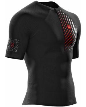 Czarny top do biegania Compressport