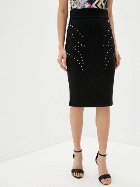 Черное облегающее платье Cavalli Class
