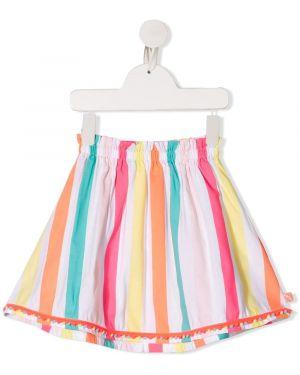 Biała spódnica w paski bawełniana Billieblush