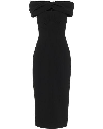 Черное платье миди Emilia Wickstead