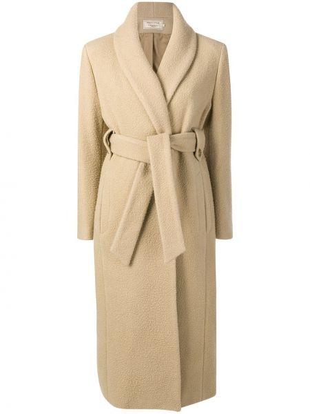 Шерстяное пальто с капюшоном Maison Kitsuné