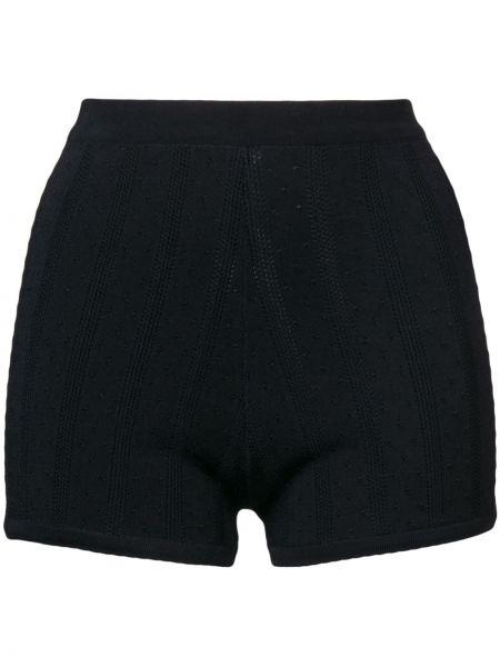 Нейлоновые облегающие черные шорты Marc Jacobs