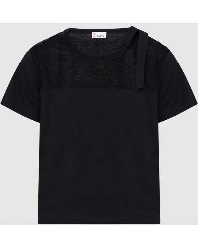 Черная футболка Red Valentino