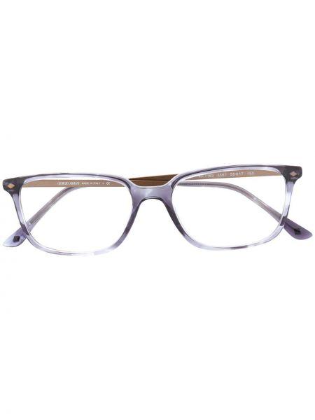 Niebieski prosto oprawka do okularów metal plac Giorgio Armani