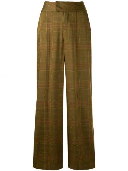 Желтые свободные брюки с воротником с карманами Muller Of Yoshiokubo
