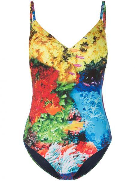 Слитный купальник спортивный с трусами-брифами Mary Katrantzou