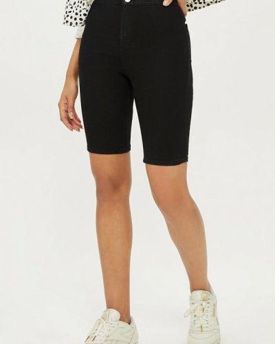 Черные джинсовые шорты Topshop