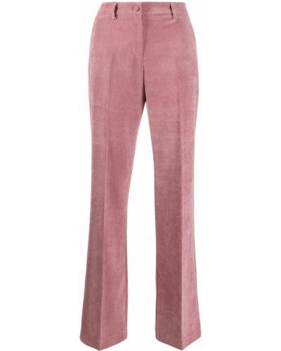 Розовый костюмный брючный костюм с поясом с высокой посадкой Hebe Studio
