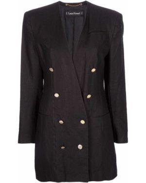 Черный пиджак винтажный Louis Feraud Pre-owned