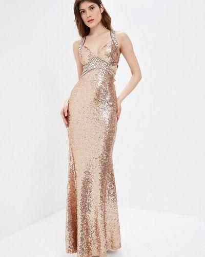 Вечернее платье весеннее золотой Soky & Soka