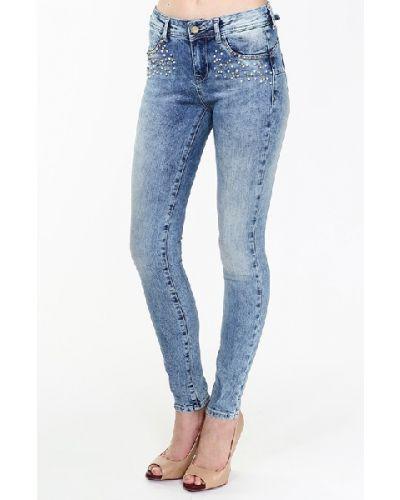 Зауженные джинсы - голубые Gaudì