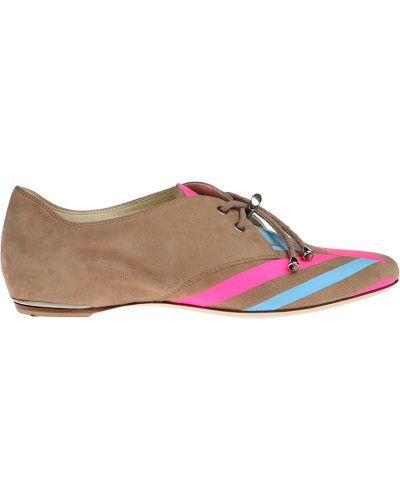 Замшевые туфли кожаные бежевый Loriblu