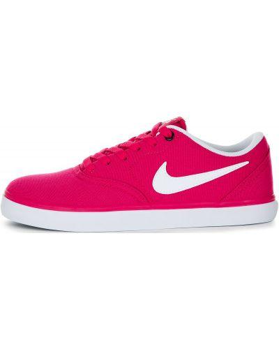 Кеды на шнуровке розовый Nike