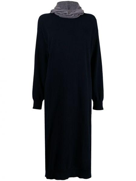 Платье миди классическое - синее Sofie D'hoore