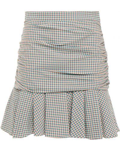 Spódnica mini bawełniana turkusowa Veronica Beard