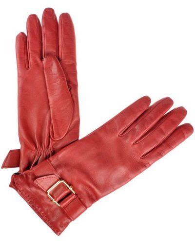 Кожаные перчатки красный Mor`a