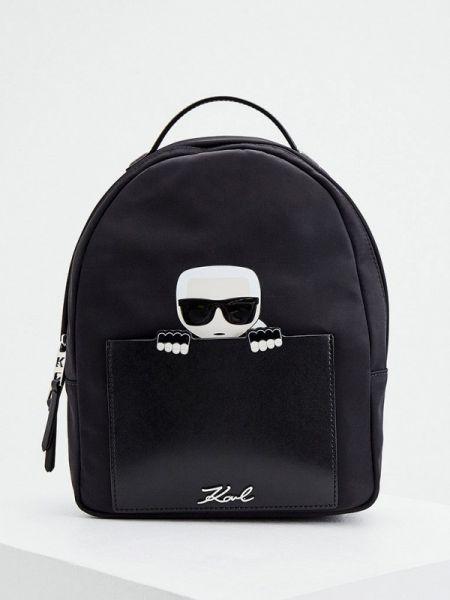 Рюкзак черный из искусственной кожи Karl Lagerfeld