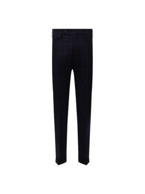 Шерстяные брюки - синие Andrea Campagna